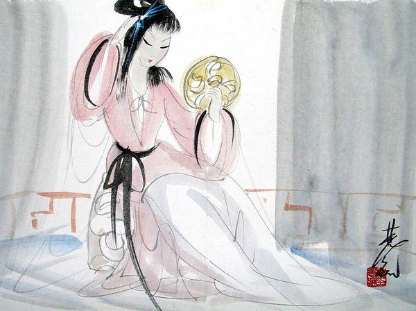 唐朝仕女简笔画