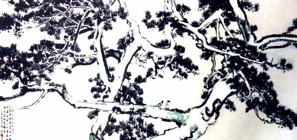 松柏- 国画 - 当代书画名家网
