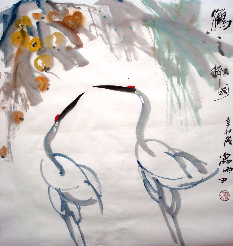 仙鹤图; 写意水墨画仙鹤画法; 仙鹤模板下载 国画 仙鹤_松树仙鹤国画