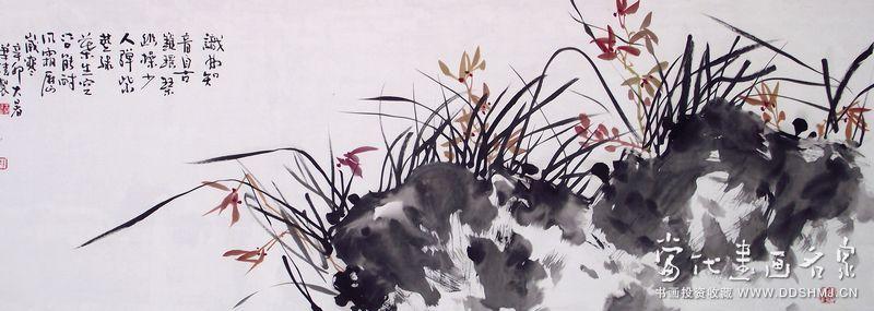 兰花图 - 国画 - 当代书画名家网